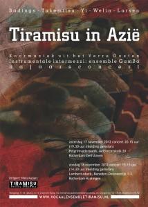 Poster Tiramisu in Azië
